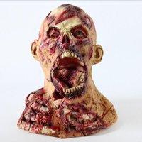 Festa Máscaras Kigurumi Halloween Cosplay Horror Monstro Helmet Masquerade Props Terror Cabeça Completa Látex Brain Brain Mask Máscara Zumbi