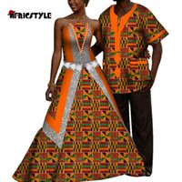 -selling African Women's Dress Bazin Riche Men's Jacket Suit Lovers' Printed Wyq553 Ethnic Clothing