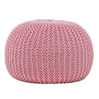거실 가구 노르딕 현대 손 핑크 짠 이불 간단한 탈착식 빨 수있는 라운드 부두 쿠션