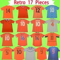 Maillot de foot rétro Pays-Bas 1974 1986 1988 1990 1991 1995 1997 1998 2000 2002 2010 2012 2014 Maillot de foot DE JONG Holland Vintage GULLIT VAN BASTEN BERGKAMP