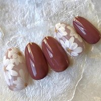 False Nails 24Pcs Bride Fake With Glue White Flower Designs Artificial Nail Tips Full Cover Supplies For Professional