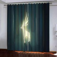 Resumen moderno Cortina La sala de estar cortinas cortinas de la ventana de impresión 3D para el dormitorio Decorativo