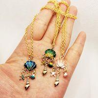 Tous match Fille Bijoux Accessoire O-Chain Colliers Coquille Star Conch Pendentif Collier Anniversaire Cadeau d'anniversaire