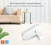 Smart Home Sensor Tuya Wifi Door And Window Alarm Remote Linkage Switch Safe Compatible With Alexa Google TuyaAPP