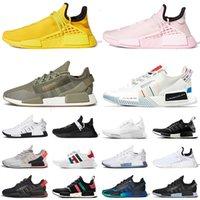 adidas boost Nmd R1 V2 human race Pharrell Williams Human Races Runners Sneakers Hu Trail Womens Mens Running Shoes Tutte le razze umane nero formatori Dimensione 36-47