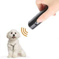 الحيوانات الأليفة كلب مبيد مكافحة نباح وقف اللحاء التدريب جهاز المدرب led بالموجات فوق الصوتية 3 في 1 مكافحة النباح بالموجات فوق الصوتية دون البطارية