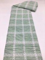 Afrikaanse mesh kant stof hoge kwaliteit ghana kant stof groen kant voor Nigeriaanse avond feestjurk naaien