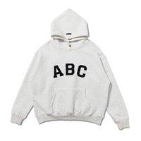 ABC letras impresión sudadera con capucha temporada siete diseñador mujeres miedo a Dios granizado Hip Hop High Street Plus Fleece Hoodies Essentials Hombres Suéter con capucha