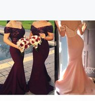 Off Shoulder Bridesmaid Dresses 2021 Mermaid Backless Sexy Cap Sleeve Sequins Long Maid of Honor Gowns Evening Party Vestidos Plus Size