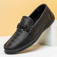 Повседневная обувь RWT5 Новый Лучший Горох Мужской Кожаный Крокодил Досуг Обувь SUY3