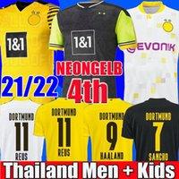 Top Thaïlande qualité BVB Borussia dortmund 4th 20 21 maillot de football 2021 maillots de football HAALAND REUS BELLINGHAM SANCHO hommes + enfants kit maillot de foot