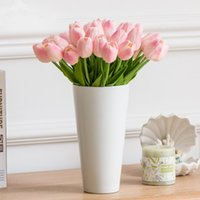 Tulip Artificial Flower Real Touch Artificial Bouquet Fake Flower for Wedding Decoration Flowers Home Garen Decor