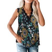 Casual Leopard Print Women T Shirt V-neck Sleeveless Off Shoulder Plus Size Females Top 2021 Vintage Streetwear Ladies Tees Women's T-Shirt