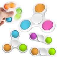Новейшие стили детские сенсорные простые димовые игрушки подарки для взрослых ребенок смешной антисусник POP палец спиннер стресс рециркут толчок пузыря