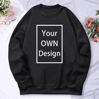 Il tuo design Brand Logo / Picture Uomo personalizzato Donne Felpa con cappuccio Felpa con cappuccio Casual Casual Abbigliamento con cappuccio 13 Colore Abbigliamento Fashion 2021
