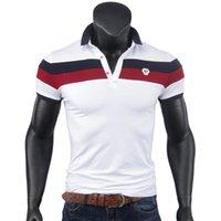 Erkek Polos Nefes Polo Gömlek Erkekler Marka Pamuk Beyaz Kırmızı Yaz Üst Kısa Kollu Slim Fit Haoyu Poloshirt Tees Artı Boyutu Toptan Ed7h