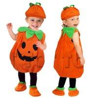 Party Hats 2021 disfraces de Halloween para niños pequeños Baby Pumpkin Costume Childern Lindo cosplay para niña Muchacho Fancy Año Carnaval Vestido