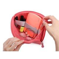 저장 가방 50pcs / lot 주최자 시스템 키트 케이스 가방 디지털 가제트 장치 USB 케이블 이어폰 펜 여행 화장품 삽입