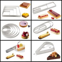 Wholesale Meibum Various Shapes Stainless Steel Tart Ring Fruit Cream Pie Pan French Cheese Mousse Dessert Cake Mold Pizza Baking Tools