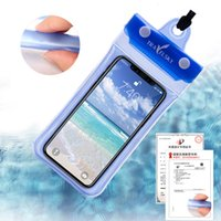 Universal 6inch 5inch Mobile Phone Waterproof Swimming Pouch Case Clear PVC Sealed Underwater Cell Phone Protect Bags With Strap DH1132