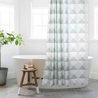 Shower Curtains Aesthetic Anti-mildew Curtain Geometric Separate Art Thicken Douchegordijn Accessories DE50YL