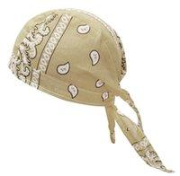 Donne da uomo in cotone cranio Caps Paisley Bandanas Turban Headwear Unisex Bicycle Bicycle Cycling Hat Ameeba Pirate Bike Sports Hat Fascia Capelli Accessori per capelli