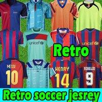 Barcelona Retro Fussball Jersey Barca 96 97 07 08 09 10 11 Xavi Ronaldinho Ronaldo Rivaldo Guardiola Insta Finals Classic Messi Maillot de Foot 1899 1999 Fußballshirts