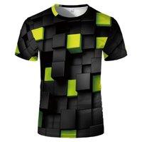 Herren T-shirts Sommer T-Shirts 3D geometrische Modellierung kreativer Charakter Casual Sports lustige Hemden Polos