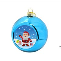 Blanco de sublimación Decoración de bola de Navidad para sublimación Tinta Transferencia de impresión Presión de calor DIY Regalos Craft puede imprimir ZZE7859