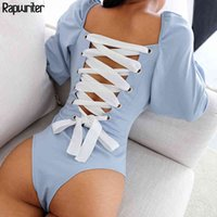 Rapwritre Sexy Sexy Sexy Backed Square Collier carré Lolita Style BodySuits Femmes Body d'entrejambe ouverte