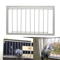 30 40*26cm Pigeon Door Metal Wire Bars Frame Single Entrance Trapping Doors Cage Birds Catch Removable Bar Bird Cages & Nests