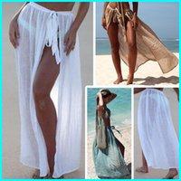 Women's Swimwear Sexy Bandage Transparent Sarong Swimdress Tunic For Beach Swimsuit Cover Up Women Bikini Long Kaftan Coverup