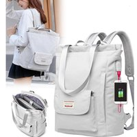 Backpack Unisex For Large Capacity Laptop Waterproof Oxford Cloth Notebook 15.6 Inch Girl Schoolbag