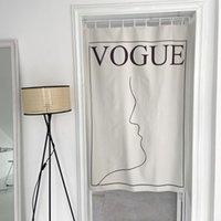 Fantastic-Ins Koreaner Stil Hintergrundgewebe Schlafzimmer Türvorhang Hängende Tuch künstlerische frische Wanddekoration Einfache Fotografierung Backgrou