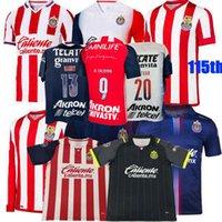 2021 2022 Guadalajara Soccer Jerseys Chivas Regal Macias I.Brizuela A.Zaldivar A.VEVGA HOME THUE 3RD 20 21 22 115th كرة القدم الرجال والنساء قميص 3XL