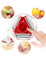 Mutfak Aletleri Meyve ve Sebzeler Soyucu Parçalama Aracı Paslanmaz Çelik Bıçak Temizlemesi Kolay Temizleme Fonksiyonunu 3 1 FWD6731