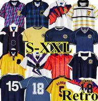 1996 1998 1986 1995 اسكتلندا ريترو لكرة القدم جيرسي 96 98 كأس العالم معدات المنزل أزرق 89 90 91 كلاسيكي اسكتلندا خمر كرة القدم قميص 78 82