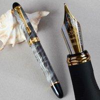 Noble 18kgp b nib fontaine stylo marbre gris noir corail vert corail rose violet vin blanc noir stylos