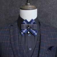 Мужская все-матча костюма рубашка платье воротник цветок жених галстук галстук мужчина свадебное шоу хоста волос стилист детей