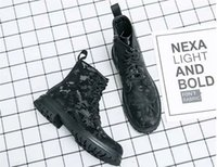 High top fashion camouflage zipper men Martin boots lace up low heel round head comfortable motorcycle leisure sports DH082