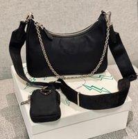 Высококачественные дизайнерские сумки для наплечника Dufle нейлоновые кожаные известный сумки сумки леди Crossbody сумка кошелек хобё кошелек сумка мода стиль 3 PieSC в одном