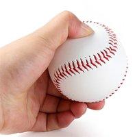 """Yüksek Kalite 9 """"El Yapımı Beyzbollar PVC Üst Kauçuk İç Yumuşak Beyzbol Topları Softbol Topu Eğitim Egzersiz Beyzbol Topları 531 Z2"""