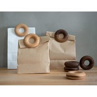 Bag Clips Wood Nordic Doughnut Shape Gadgets Inteligentes Food Clip Kitchen Storage Organization Tools
