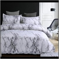 Stone Pattern Comforter Bedding Set Queen Size Reactive Printing Beddings 23Pcs White And Black Marble Duvet Cover Sets39 Sets Ih41N Upj8I