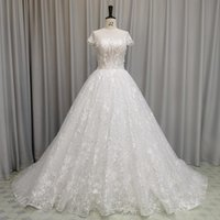 Other Wedding Dresses SL-6846 Elegant Ball Gown Dress 2021 Crystal Bling Lace Beads Bridal Collection Set Gowns Plus Size