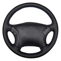 Car Steering Wheel Cover Black Artificial Leather Car Steering Wheel Cover For Mercedes Benz W203 C-Class 2001-2007