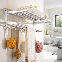 Porte-serviettes en alliage d'aluminium en aluminium mural en aluminium mural Vêtements de toilette poli