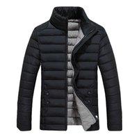 Men's Down & Parkas Wholesale- Parka Coat Men Winter Jacket Man Warm Mens Jackets And Coats 2021 Casual Slim Fit Veste Doudoune Homme Hiver