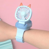 Electric Fans Mini Carry Wrist Fan Watch Summer Portable Rotatable Usb Rechargeable Air Cooling Detachable Personal Toy Table Fan#g4