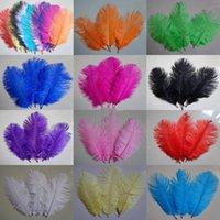 100 pcs avestruz penas 15-20 cm decoração de casamento decoração plumagem decorativa celebração branco vermelho roxo disponível
